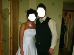 Piękna,skromna suknia ślubna
