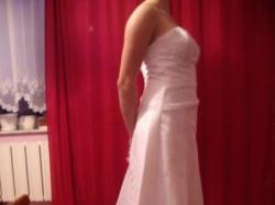 Piękna skromna suknia ślubna szyta w Paryżu...