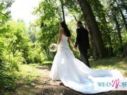 Piękna stylowa suknia ślubna