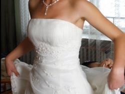 Piękna suknia Aspera rozmiar 38, iwory.