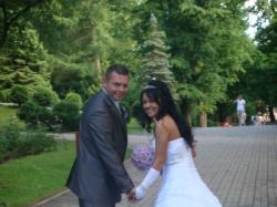 Piękna suknia biała z tiulu!!!