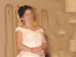 Piekna suknia Ecru rozm 42 / 44