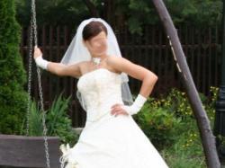 Piękna suknia ecru rozmiar 38