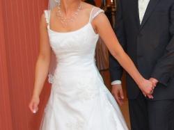 Piękna suknia ecru szyta na wzór Maggie Sotero Sposa Royale A632-HC