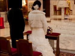 Piękna suknia Elianna Moore AQUA - falbany!