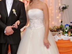 Piękna suknia Franceska Princessa + welon i bolerko