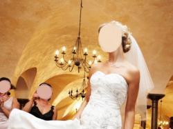 Piękna suknia Justin Alexander 8349 GRATIS welon i bolerko