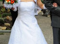 Piękna suknia MSmoda NADINE biała r. 34/36