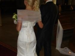Piękna suknia o linii syreny
