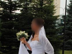 Piękna suknia papa michel flotas