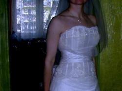 Piękna suknia Papilio 32/34 ecru
