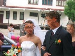 PIEKNA SUKNIA śluba raz uzyta