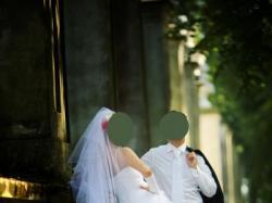 Piękna suknia śluba Svarovski biała rozm.38