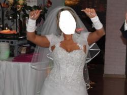 Piękna suknia ślubna 2 w 1żnobiała
