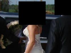 Piękna suknia ślubna 38/40 ECRU