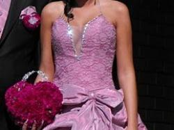 piękna suknia ślubna/balowa różowa