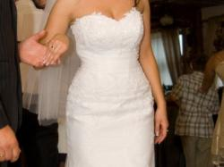 Piękna suknia ślubna - biała rybka Melody Ms Moda