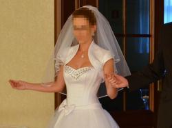 Piękna suknia ślubna biała Swarovski rozmiar 34/36