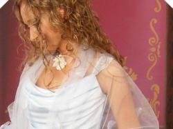 Piękna suknia ślubna błękitna