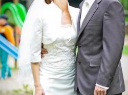 Piękna Suknia Ślubna + bolerko