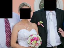 Piękna suknia ślubna + bolerko gratis