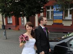 piekna suknia ślubna Carrera Annais Bridal biała rozm.36