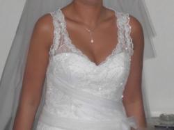 Piękna suknia ślubna CLASSA C418 -biel 38/40 Będzin, Dąbrowa Górnicza