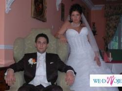 Piękna suknia ślubna Demetrios - kamizelka męska New Men GRATIS !!!
