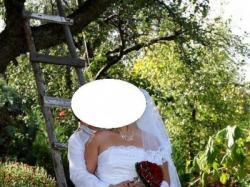 Piękna suknia ślubna + dodatki