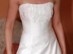 Piękna suknia ślubna DUBER, ecru, 36