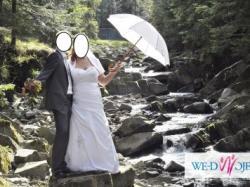 Piękna Suknia Ślubna duży rozmiar 48-50 + GRATISY!