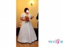 Piękna suknia ślubna- ECRU r. 50/52/54/56