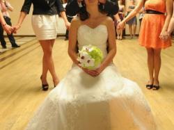 Piękna suknia ślubna ECRU TANIO!!