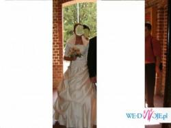 Piękna Suknia Ślubna Ecry
