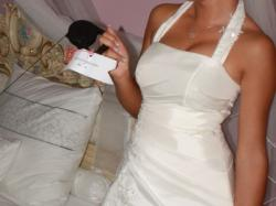 Piekna suknia ślubna ekri 34/36 możliwość przymairki 3 sukien w jednym domu