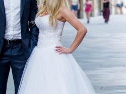 Piękna suknia ślubna, fason Princessa - księżniczka