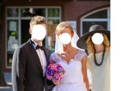 Piękna suknia ślubna GRATIS WELON + HALKA