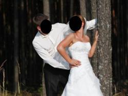 Piękna suknia ślubna Herms Gabdalla