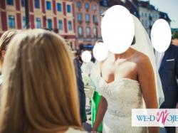 piękna suknia ślubna justin alexander 9720 rybka koronka