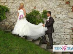 Piękna suknia ślubna Justin Alexander.