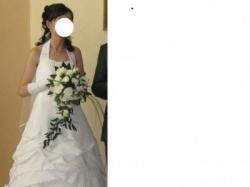 Piękna suknia ślubna kolekcji Sposabella jednoczęściowa, niedrogo!