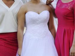 Piękna Suknia ślubna + koło i ramiączka gratis