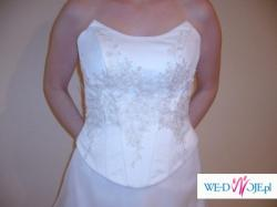 piękna suknia ślubna kolor ecri