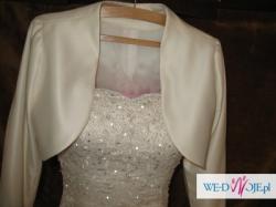 Piękna suknia ślubna - kolor ecru