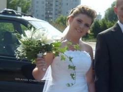 Piękna suknia ślubna + koronkowy gorset gratis:)