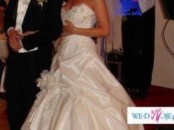 """Piękna suknia ślubna - Księżniczka """"Farage"""" , 38 ECRU"""