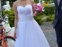 Piękna suknia ślubna, księżniczka +welon GRATIS, cena do negocjacji