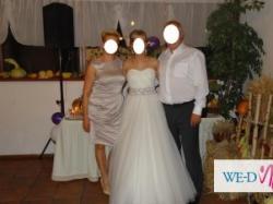 Piękna suknia ślubna Madonna Famosa!