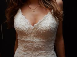 piękna suknia ślubna Madonna koronkowa  z Hiszpanii 34/36