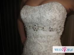 Piękna suknia ślubna, model Biora 2009, 36 kolor Ivory